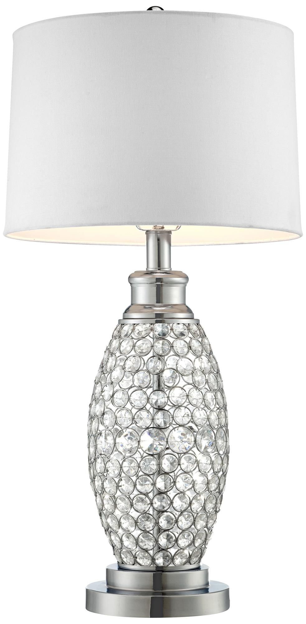 Possini Euro Design Beaded Table Lamp With White Shade My Style