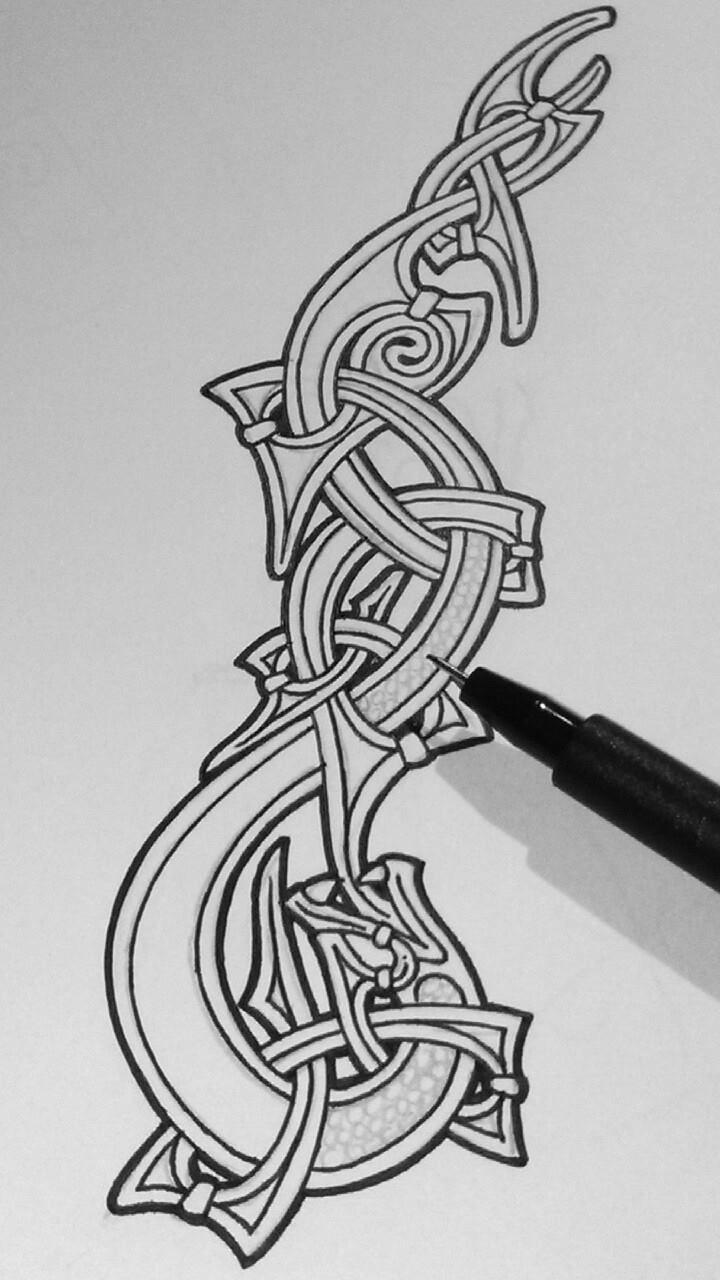 inkin snake in mammen style v tor gonz lez tattoo pictures pinterest art celte tatouage. Black Bedroom Furniture Sets. Home Design Ideas
