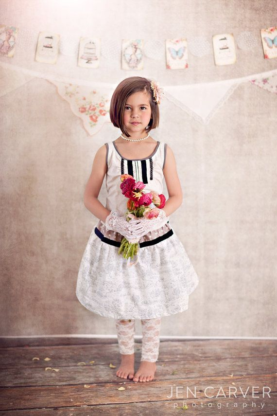 Girls ANNE Tank and Skirt Set The Dear Jane by lillipopsdesigns, $68.00
