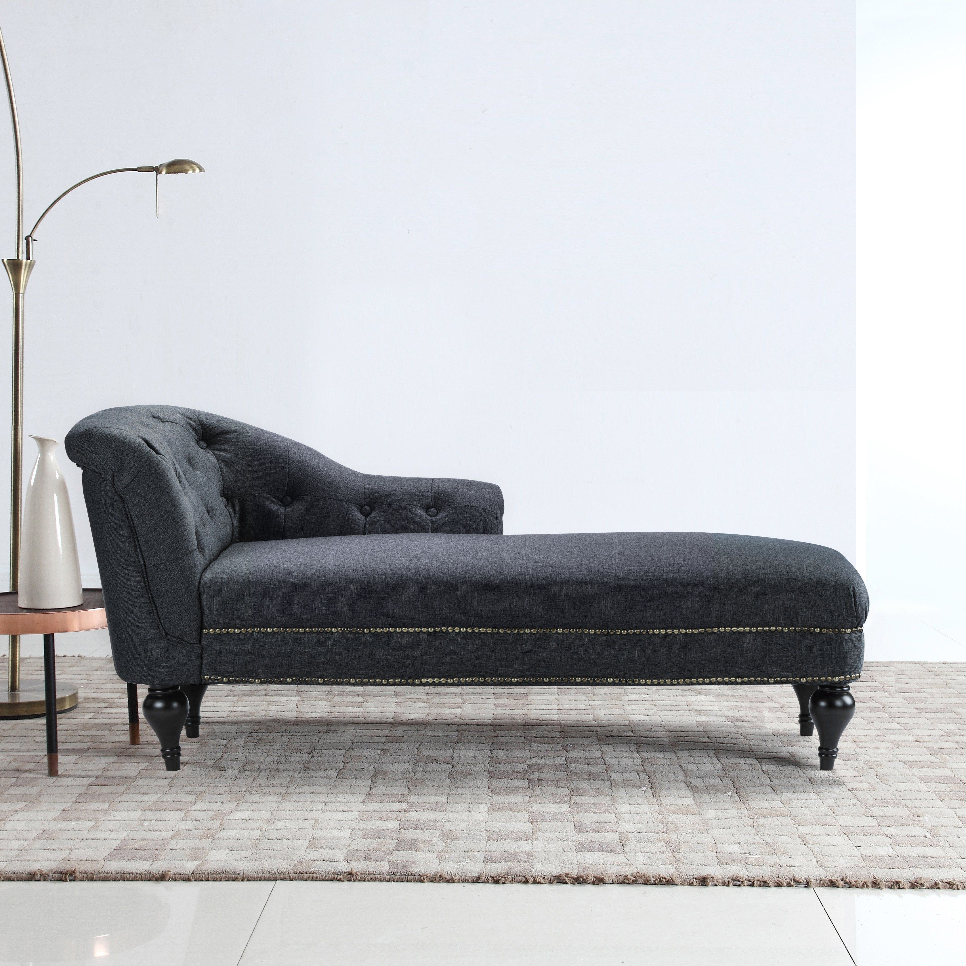 Surprising Isabel Tufted Chaise Lounge Furniture Tufted Chaise Squirreltailoven Fun Painted Chair Ideas Images Squirreltailovenorg