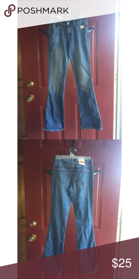 Old navy flare jeans Old navy jeans   Brand new  Flare  Lightly distressed   *open to trade Old Navy Pants Boot Cut & Flare