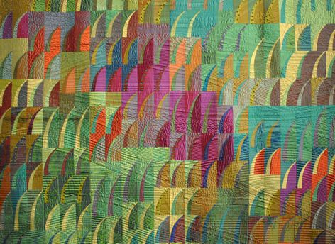 Mikko Misawa, Grasslands. Image courtesy New England Quilt Museum.