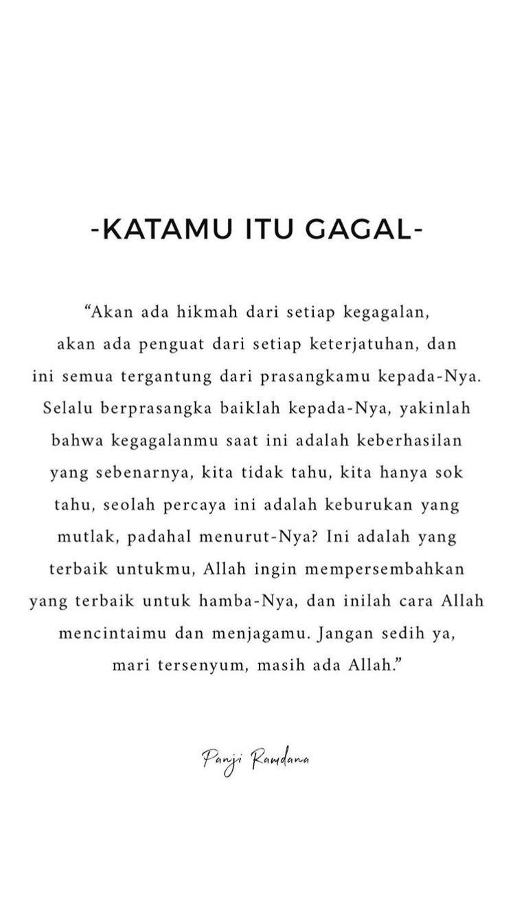 Pin Oleh Callista Di Quotes Islamic Quotes Kata Kata Indah