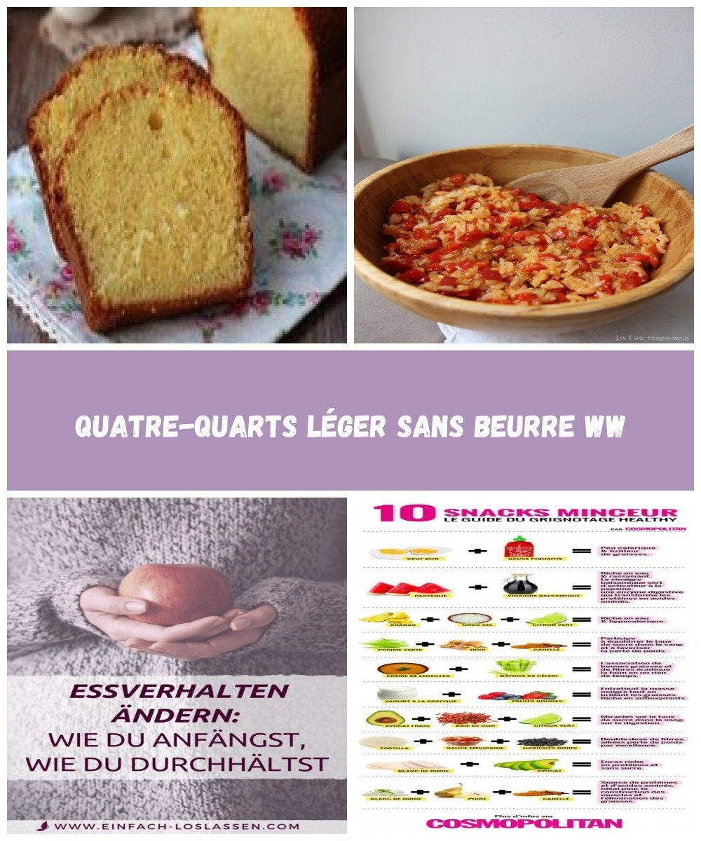 Le quatre-quarts d'origine est une recette simple avec, comme son nom l'indique, 1/4 de farine, 1/4 d'œuf, 1/4 de sucre en poudre, et 1/4 de beurre. Cette version est un peu différente, et très légère, elle est sans beurre! Voici la recette du quatre-quarts léger sans Beurre WW. Ingrédients pour 8 parts: – 3 SP … diät Quatre-quarts Léger Sans Beurre WW #quatrequart Le quatre-quarts d'origine est une recette simple avec, comme son nom l'indique, 1/4 de farine, 1/4 d'œuf, #quatrequart