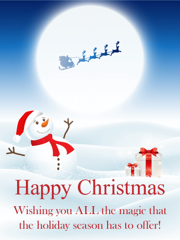 Wishing You All The Magic Merry Christmas Card Birthday Greeting Cards By Davia Merry Christmas Wishes Happy Christmas Day Happy Christmas Card