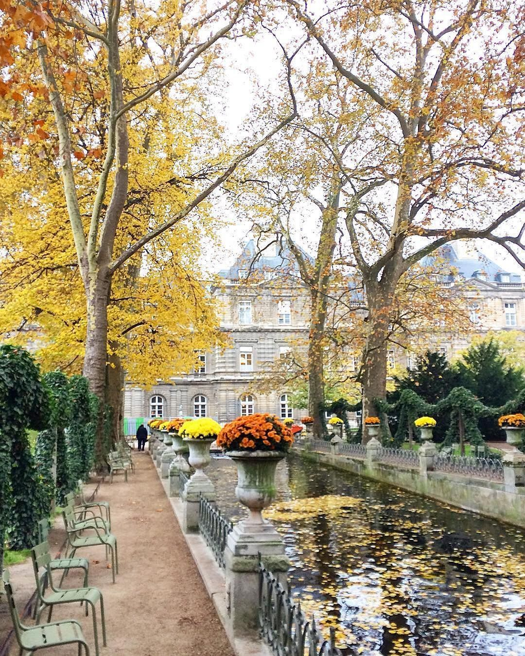 Bassin De La Fontaine Medicis Dans Le Jardin Du Luxembourg Paris