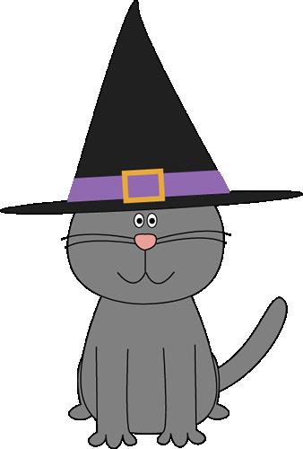Cute Halloween Witch Clip Art | Halloween Cat Clip Art - Halloween ...