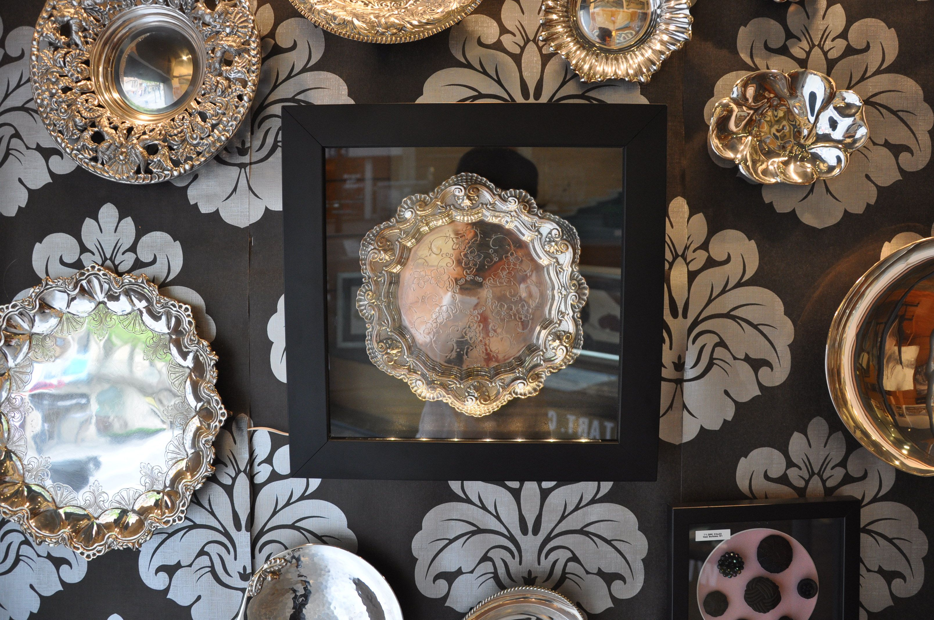 marco para ·bandeja antigua de plata #shadowbox #vitrina | Marcos ...