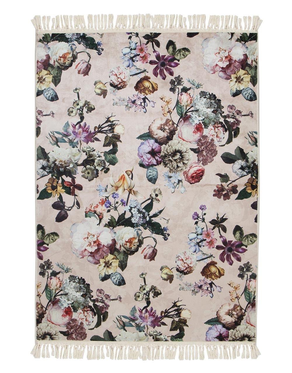 Essenza Carpet Fleur Rose Teppich Teppich Rosa Teppich Beige