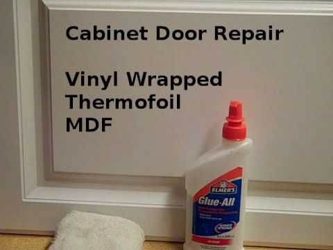 Repair Thermoroil or vinyl wrap cabinet door edges. Quick fix ...