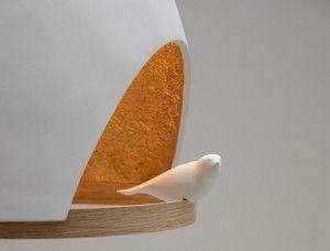 Lampara en Forma de Nido, Accesorios de Iluminacion Elegantes y Modernos2