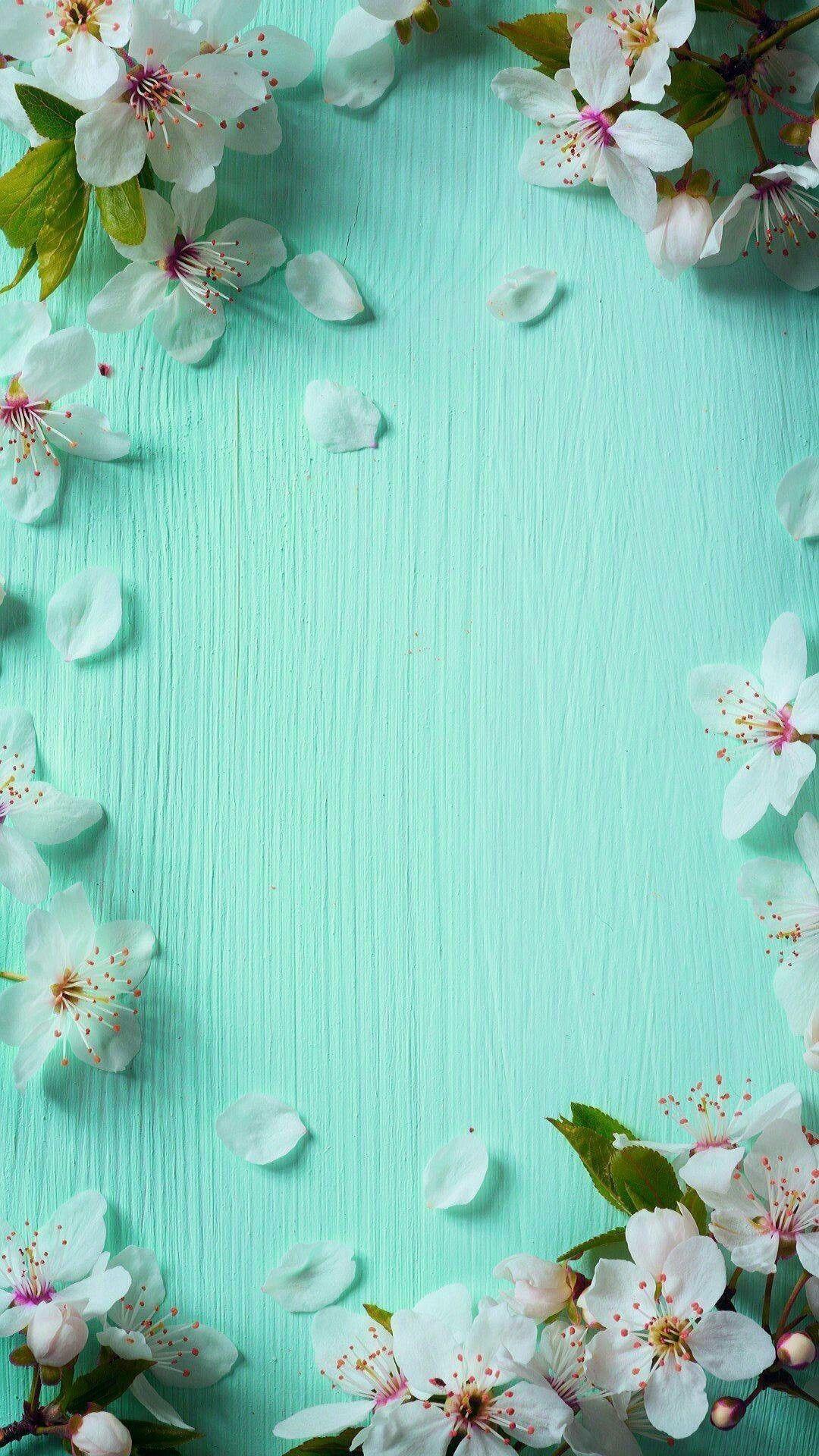 Blue Spring iPhone Background. Ideas de fondos de