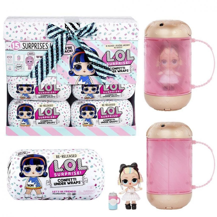 Re Release Lol Surprise Confetti Under Wraps With 15 Surprises Lol Lol Dolls Doll Display