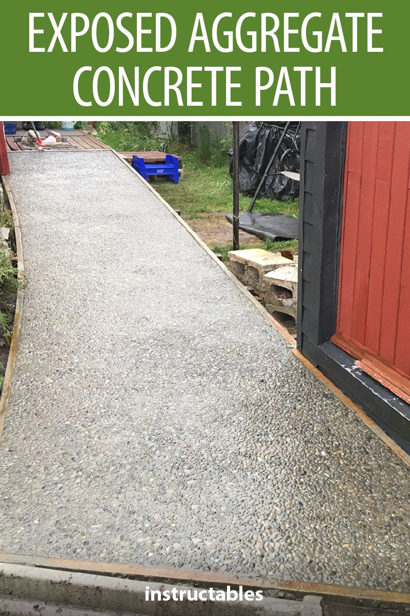 Making An Exposed Aggregate Concrete Path Exposed Aggregate