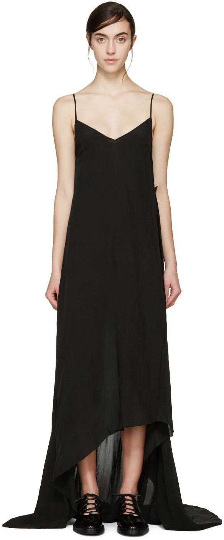 Yang li black asymmetric slip dress clothes pinterest