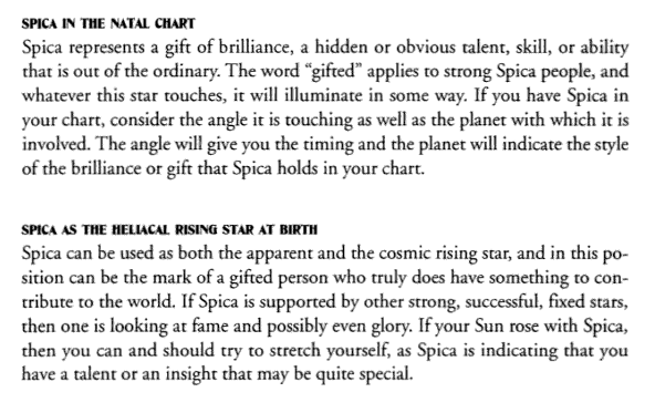 Spica in the Natal Chart and Spica as the Heliacal Rising