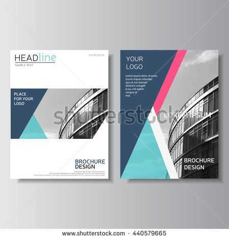 Blue brochure design, annual report cover, leaflet template Flyer