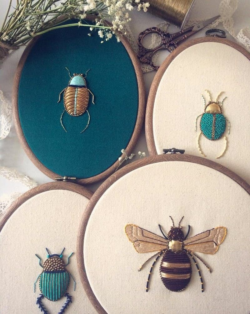 Stitch, Please! 9 Embroiderers Serving Up Instagram Eye Candy #embrodery