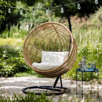 All Weather Bamboo Hanging Nest Chair Nest Chair Garden Chairs