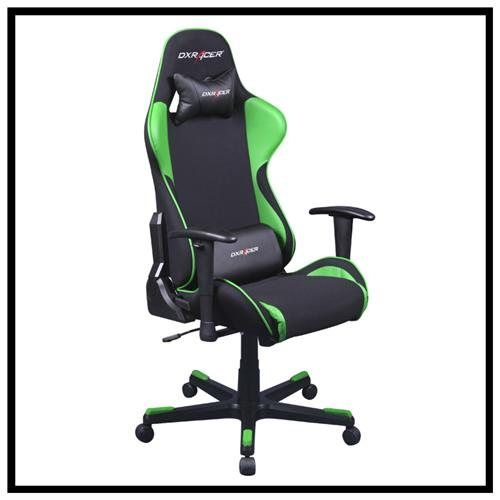 Dxracer Fe11ne Comfortable Office Gaming Chair Black And Green