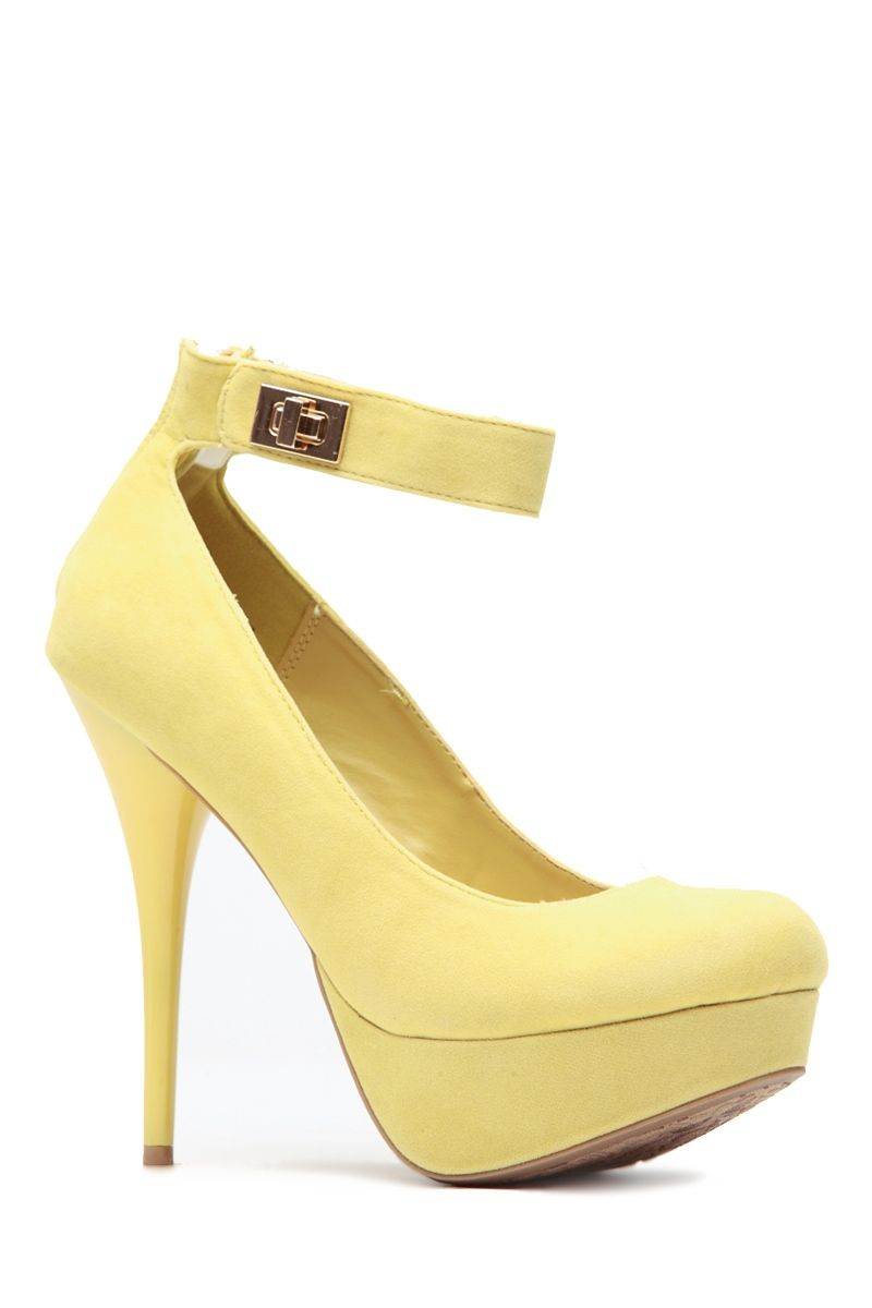 Lemon On Lock Round Toe Pumps @ Cicihot Heel Shoes online store sales:Stiletto Heel Shoes,High Heel Pumps,Womens High Heel Shoes,Prom Shoes,Summer Shoes,Spring Shoes,Spool Heel,Womens Dress Shoes