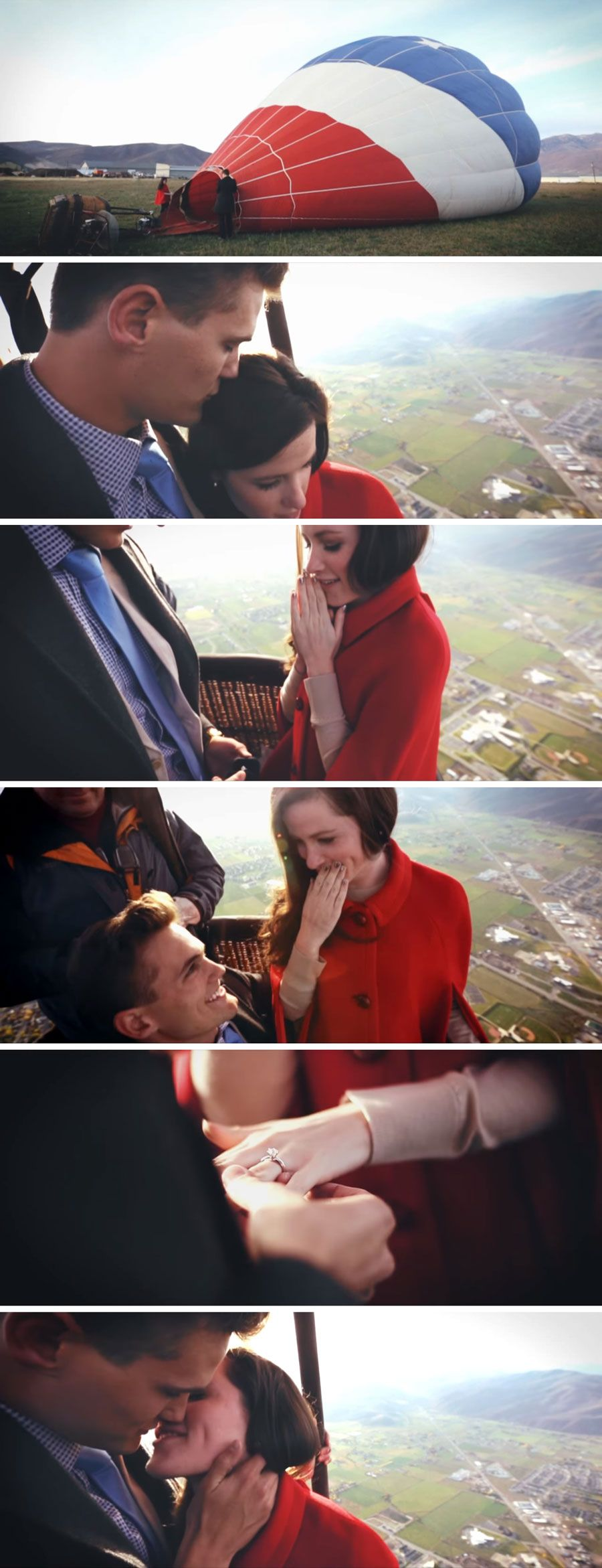 Hot air balloon proposal video marriage proposals