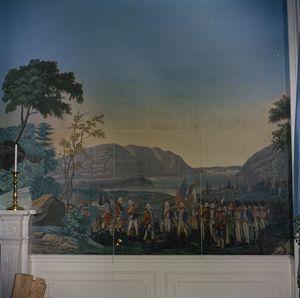 White House Rooms: President's Dining Room, Zuber wallpaper detail - John F. Kennedy Presidential Library & Museum _BM