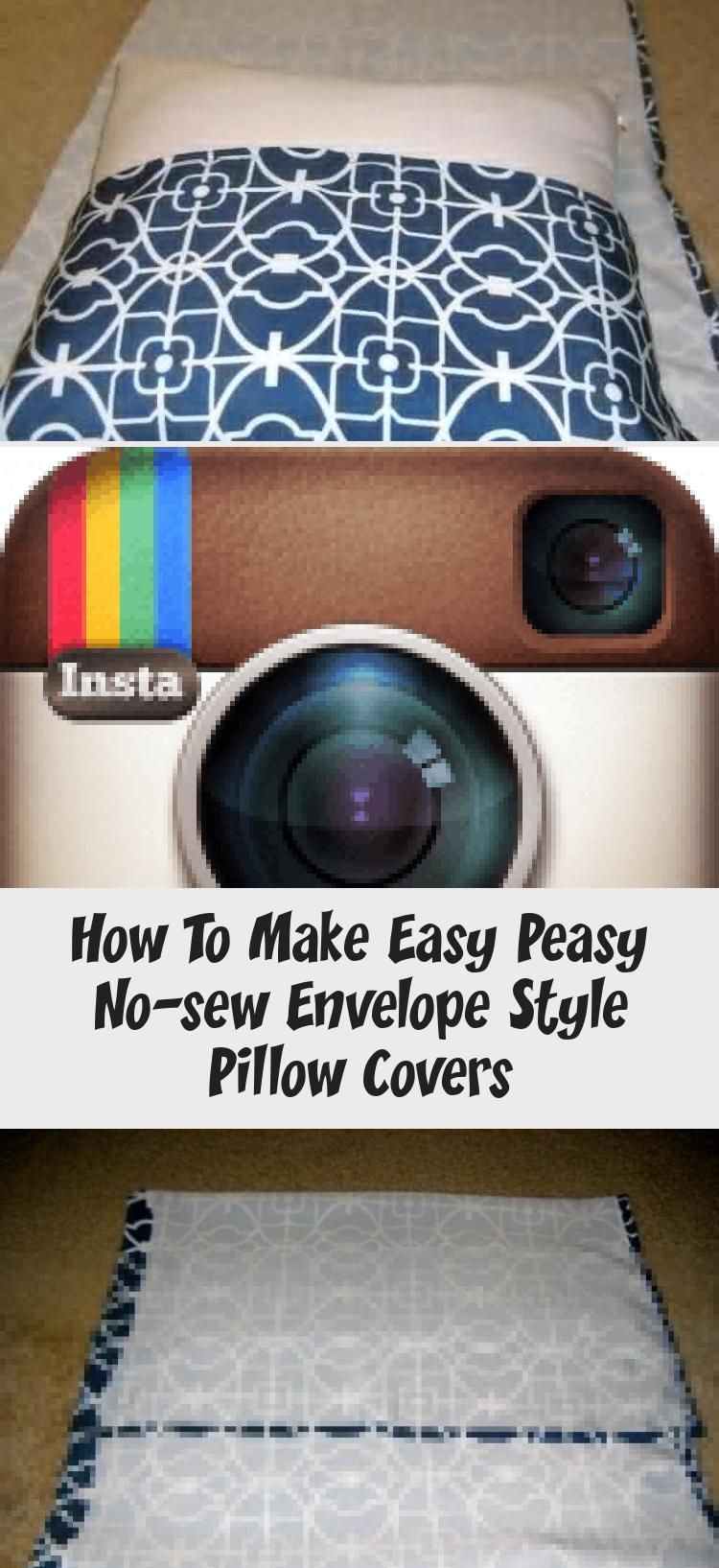 How to Make Easy Peasy No-Sew Envelope Style Pillow Covers