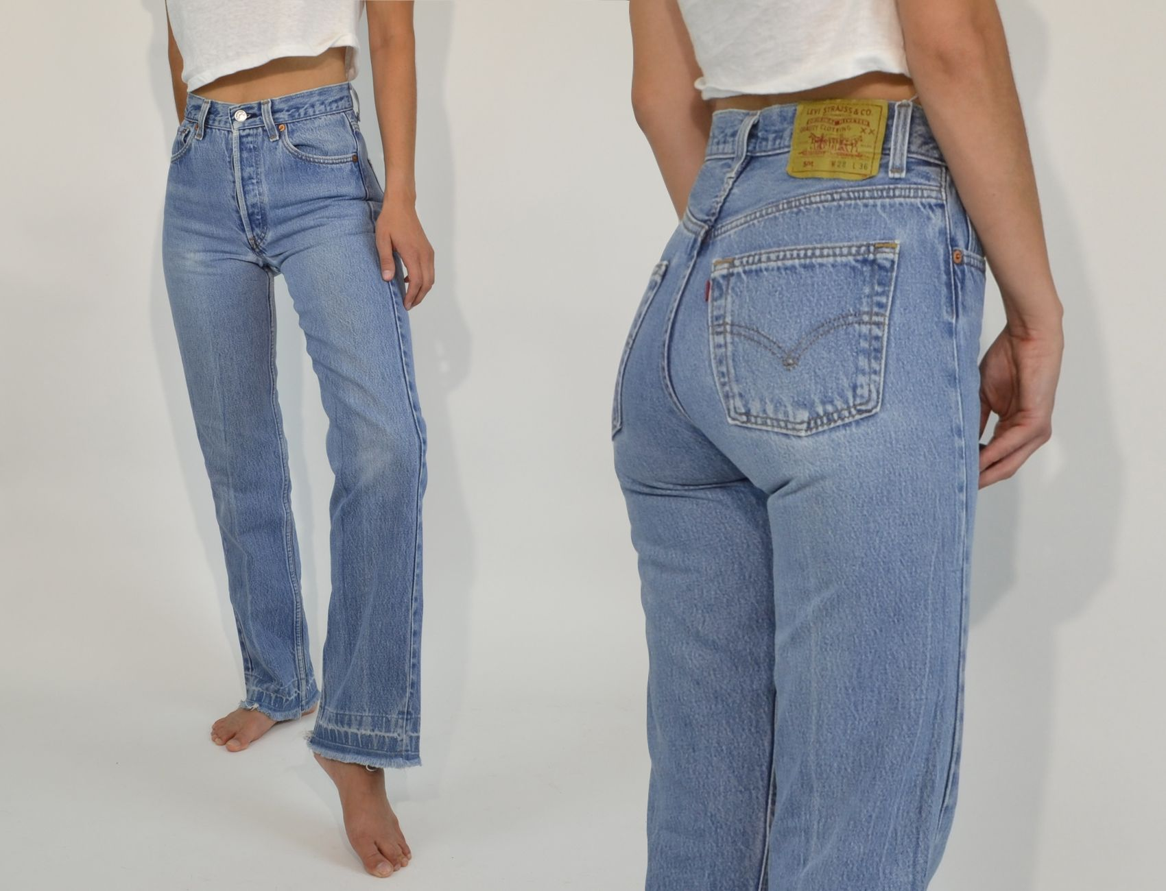 80 S High Waisted Denim Levi Jeans 501 Vintage Levis 501 Mom Jeans Outfit