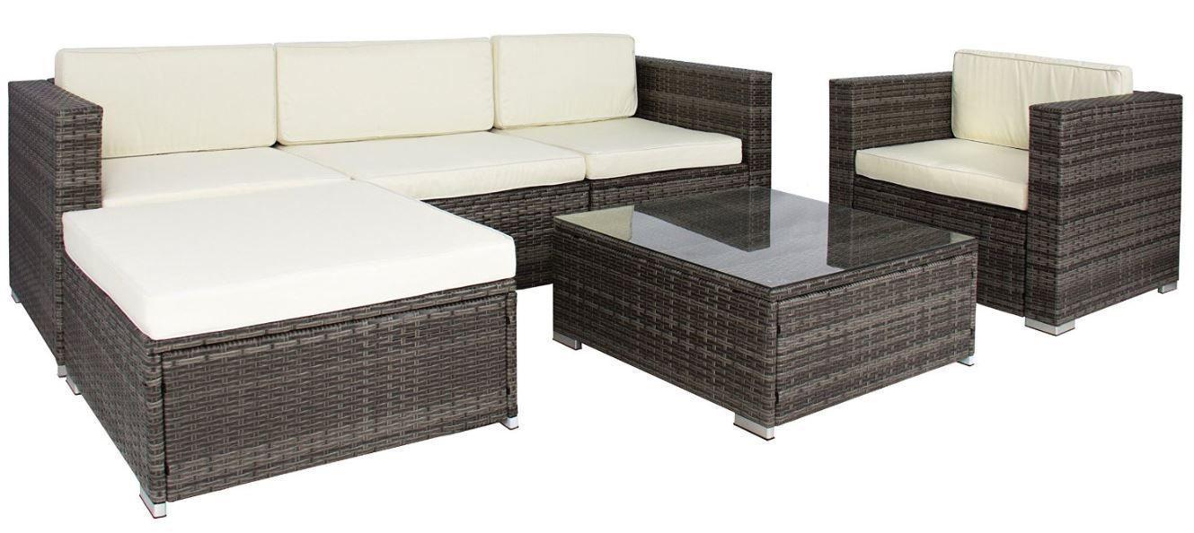 Bonanza Sofa Furniture Sectional Cushioned Wicker Rattan Patio Black Gray 6 Piece S Patio Furniture For Sale Wicker Furniture Garden Furniture Sale