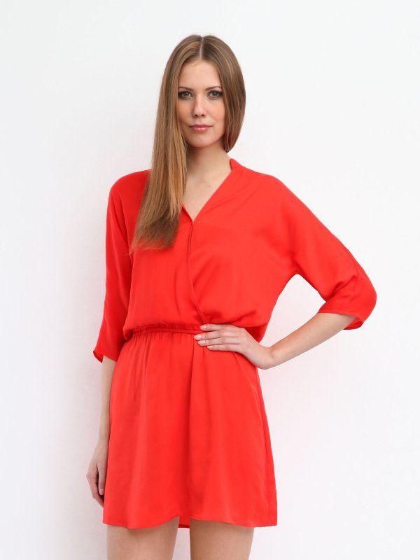 Czerwona Sukienka Top Secret Fashion Mini Dress Shoulder Dress