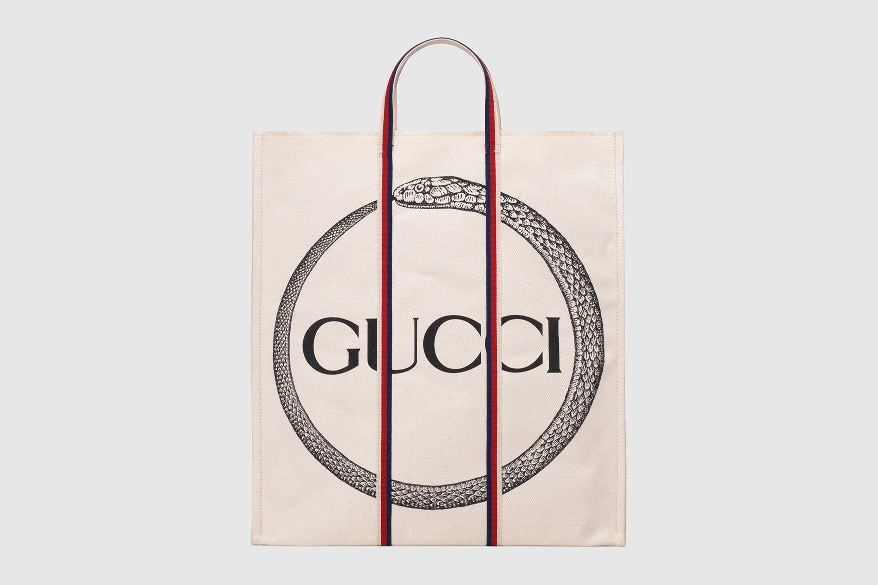 23c45d6e8f24 Gucci Ouroboros Print Logo Canvas Tote Bags Snake Supreme Square G Vintage