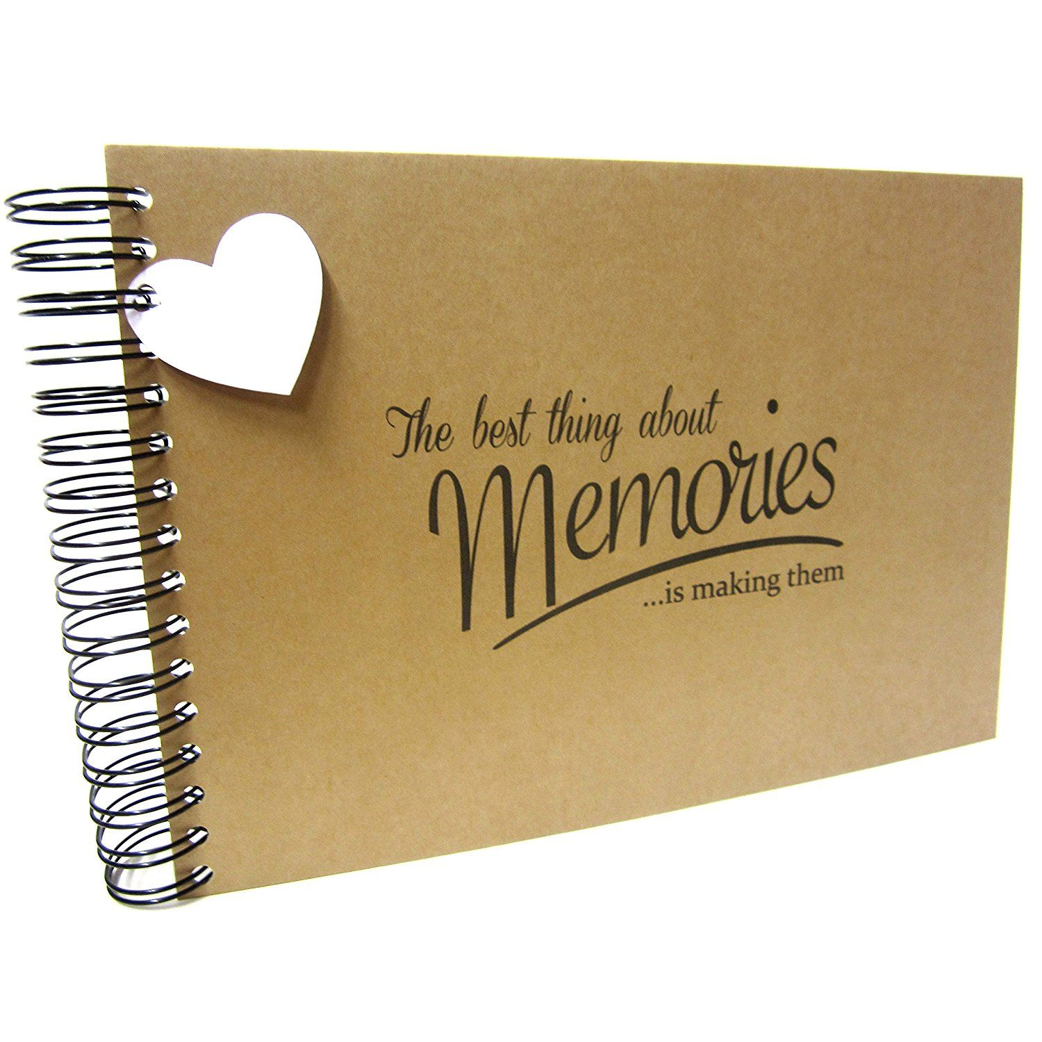 Memories Scrapbook Photo Album Keepsake Gift For Him Her Paper Anniversary A4//A5