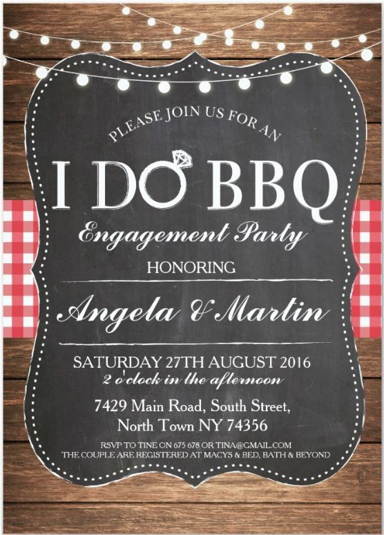 I DO BBQ Engagement Party Couples Shower Invite | Zazzle.com