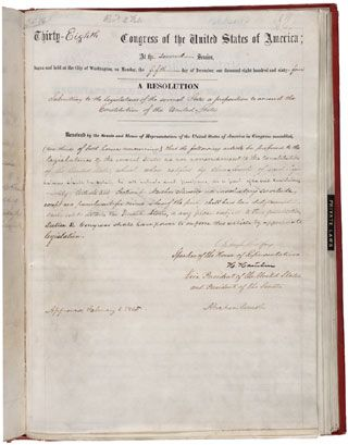 13th Amendment To The U S Constitution Abolition Of Slavery The House Joint Resolution Proposing The 13th Amend Abolishment Of Slavery Slavery Constitution