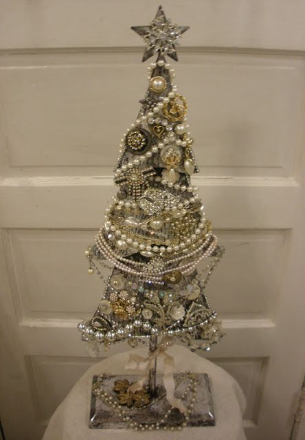 Vintage Jewelry Tree Jeweled Christmas Trees Jewelry