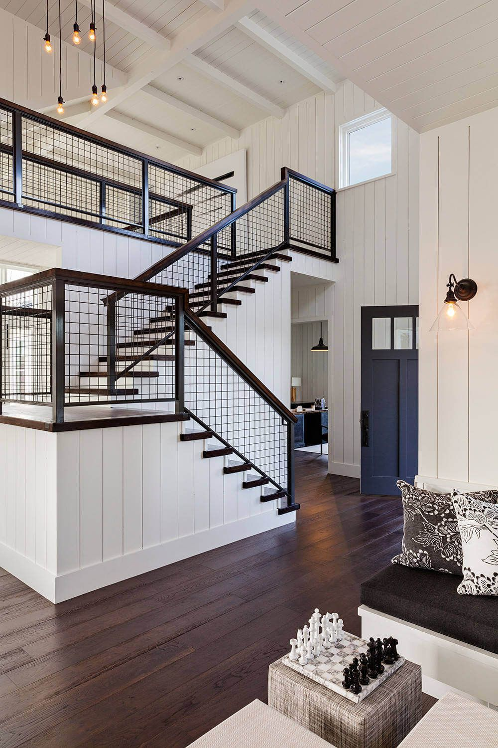 Healdsburg House By Dotter Solfjeld Architecture Design | Home Stair Railing Design | Grill | Living Room | Inside | Small House | Outside Staircase Grill