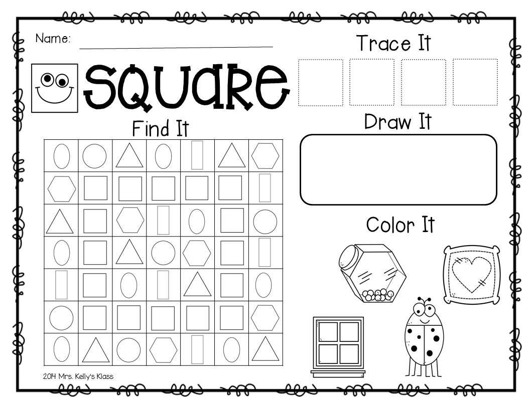 Freebie From A Fun 2d Shapes Unit Shape Worksheets For Preschool Shapes Worksheet Kindergarten Kindergarten Worksheets Printable [ 816 x 1056 Pixel ]