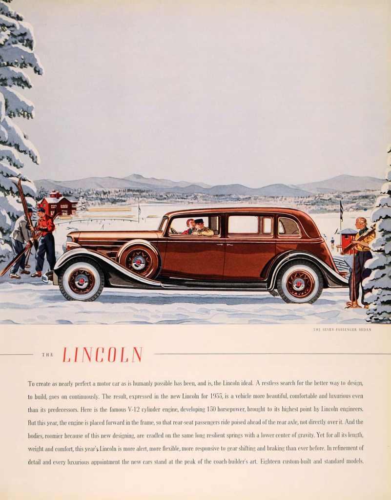 Ford Car Christmas Ads 2021 1935 Lincoln Ad In 2021 Classic Cars American Classic Cars Lincoln Cars