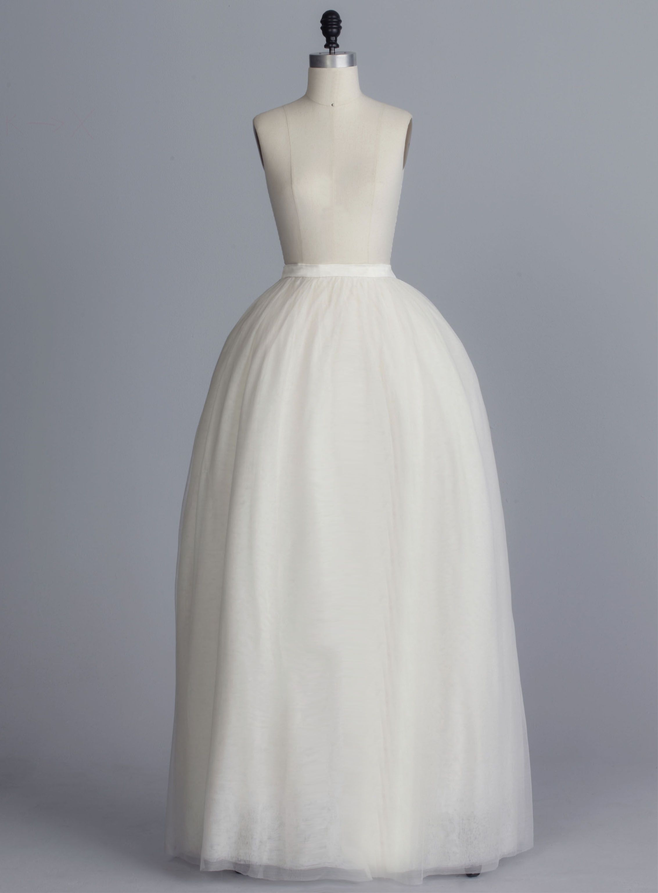 d2bc20a83 Della Giovanna Colbie Skirt- Off-White Silk Tulle Ball Gown Gathered Skirt  with Satin Waistband. Bridal Separates. Wedding Gown