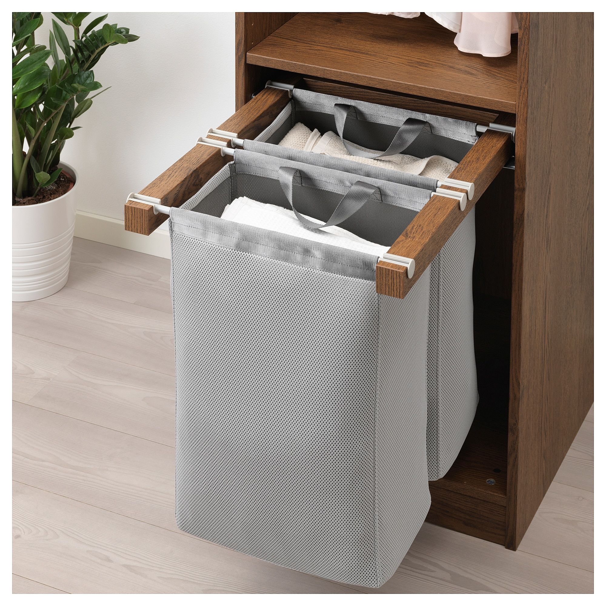 Komplement Pull Out Storage Bag Brown Stained Ash Effect 19 5