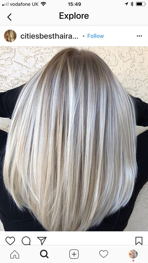 Hair Color Blonde Ash Silver Grey Hairstyles 61 Ideas Silver Hair Highlights Silver Hair Color Perfect Hair Color