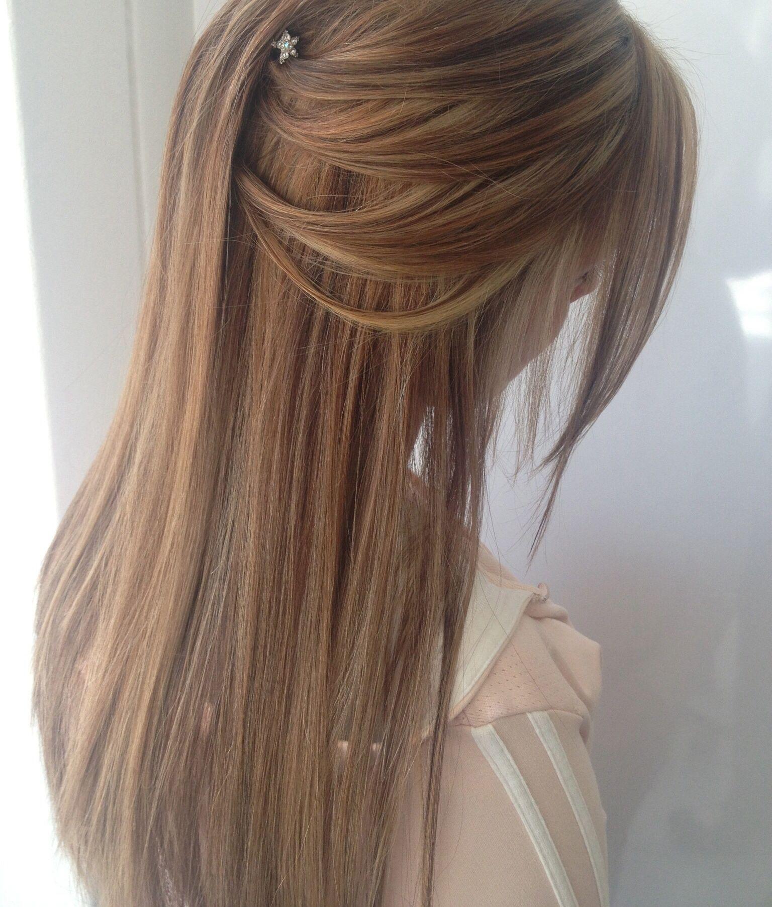 hair ideas for the matric dance. half up half down long hair