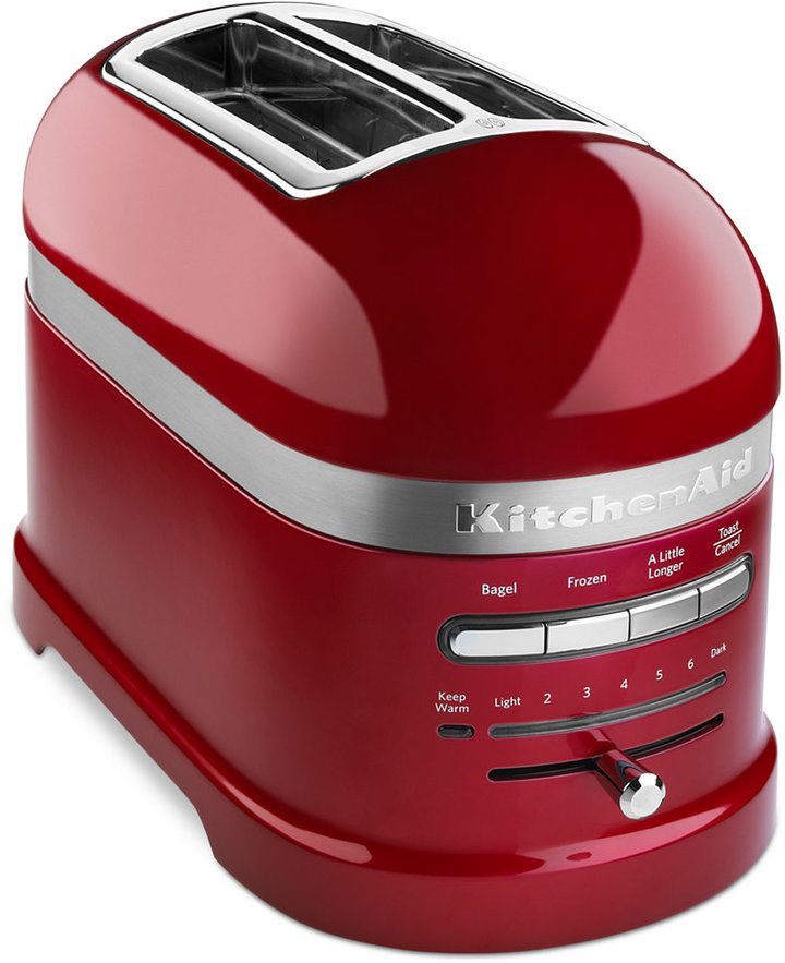 kitchenaid 4 1 2 quot red stainless steel kitchenaid pro line 174 2 slice toaster kmt2203 reviews small appliances kitchen macy s 2750