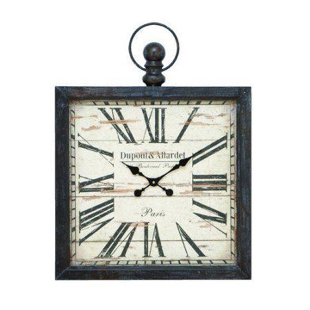 Decmode Metal Wall Clock, Multi Color, Multicolor