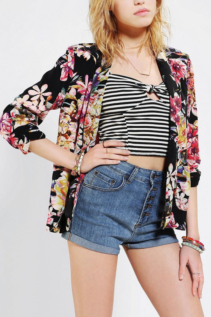 Pins And Needles Summer Lady Blazer | Urban Outfitters