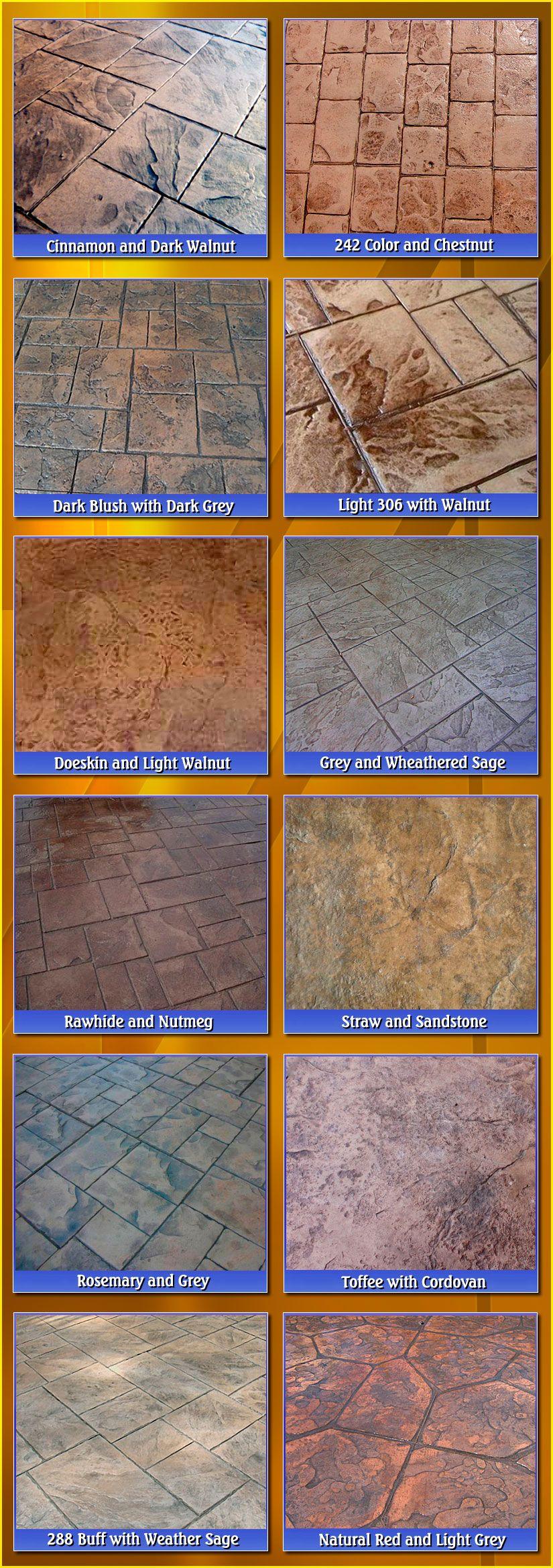 Stamped Concrete Colors Biondo Cement Macomb Mi Pisos