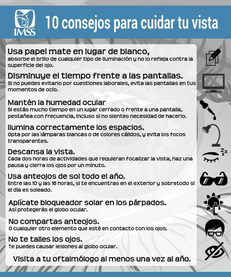 e1a78125ea 10 consejos para cuidar tu vista. Cuidado De Los Ojos, Salud Visual,  Farmacia
