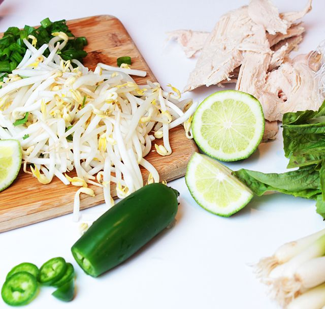 Turkey Pho. The broth alone sounds really yummy. Could even do it as a vegetable broth.