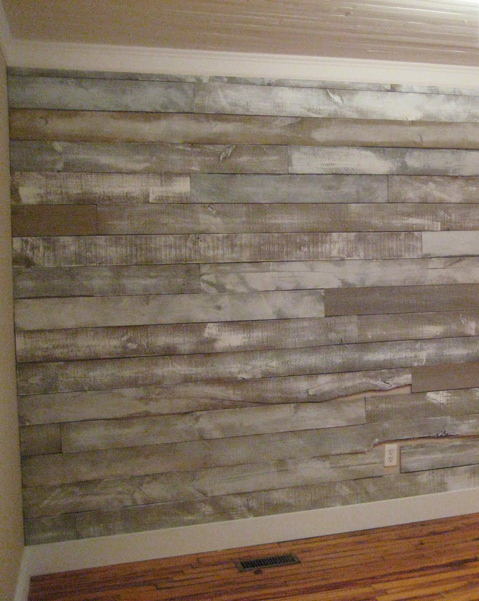 DIY White Washed Pallet Wall More